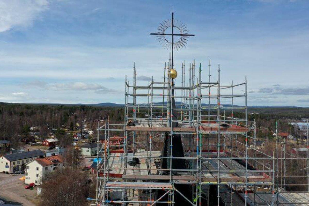 210511 Särna Renovering av Särna kyrka Foto Nisse Schmidt